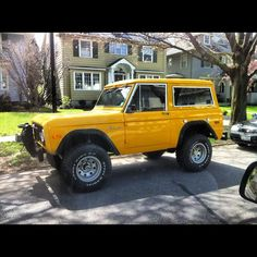 Sweet old school Bronco The first true SUV.
