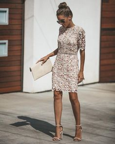 Love Like Crazy Lace Dress Mob Dresses, Short Dresses, Lace Dresses, Little Dresses, Dresses For Work, Engagement Dress For Bride, Rehearsal Dinner Dresses, Mode Style, Lace Sleeves