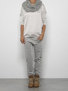 This would be a great casual look with a more feminine flat shoe or shoe boot.