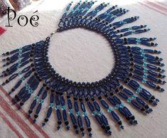 Poé gyöngyei: Szíves rojtos Beadwork, Beading, Zulu, Beaded Necklaces, Jewellery, Projects, Design, Beads, Log Projects