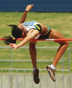 body in motion - high jump Heptathlon, Recreational Sports, Sports Track, Track Quotes, Track Meet, Military Training, Olympic Sports, High Jump, Action Poses