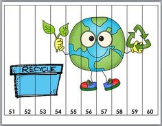 Earth Day Math - Number Puzzles by Marcia Murphy Counting Puzzles, Number Puzzles, Math Numbers, Earth Day Activities, Art Therapy Activities, Art Activities For Kids, Classroom Crafts, Classroom Activities, Preschool Crafts