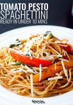 Tomato Pesto Spaghet
