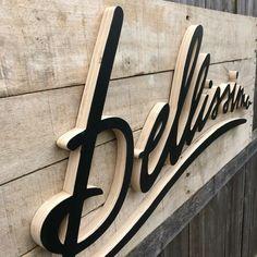 Belissima - pallet backed wedding sign - Pallet sign - Home sign - Rustic sign