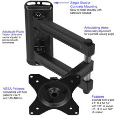 Tv Wall Mount For Monitors 23 Quot To 42 Quot Full Motion