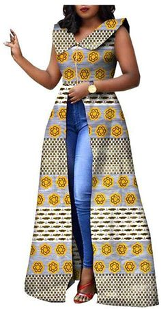 RealWax Dress For Women Party Wear Split Ball Gown Cocktail Ankara Clothing Clothes African Dresses For Kids, African Maxi Dresses, Latest African Fashion Dresses, African Attire, African Wear, South African Traditional Dresses, African Print Jumpsuit, Ankara Clothing, Africa Fashion