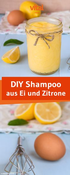 Make organic shampoo yourself- Bio-Shampoo selber machen Making lemon-egg-shampoo yourself: Does your hair need more volume and shine? Then our homemade shampoo made of egg and lemon is just right! Diy Shampoo, Homemade Shampoo, Organic Shampoo, Organic Beauty, Organic Skin Care, Beauty Care, Diy Beauty, Beauty Tips, Beauty Hacks