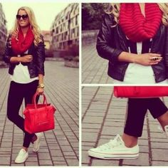 rojo bufanda