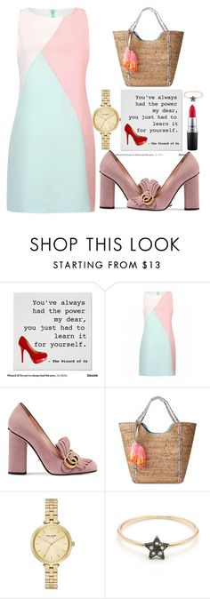 """""""Untitled #1792"""" by anarita11 ❤ liked on Polyvore featuring Gucci, Lilly Pulitzer, Kate Spade and MAC Cosmetics"""