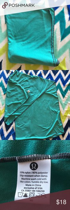 Lululemon mat towel Great condition! Ready for class. No flaws. lululemon athletica Accessories Scarves & Wraps