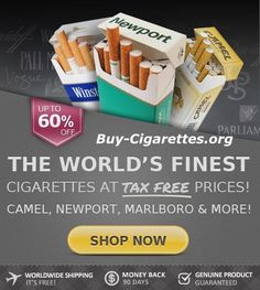 Your Favorite Cigarettes - 60% Savings #Discount - #Free Worldwide Shipping - http://www.Buy-Cigarettes.org - All Major #Cigarettes Brands