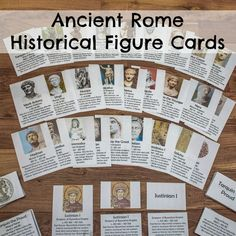 Hands-On Ancient History for Kids Ancient Rome Historical Figure Cards Ancient World History, World History Lessons, History For Kids, History Projects, History Facts, Nasa History, History Quotes, Rome Activities, History Activities