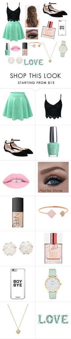 """Date Night"" by patriciaaa02 ❤ liked on Polyvore featuring LE3NO, Gianvito Rossi, OPI, NARS Cosmetics, Michael Kors, Chanel, Zoella Beauty and Kate Spade"
