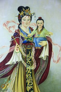 Chinese Mary and Jesus