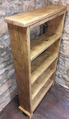 Handmade reclaimed wood bookcase shelves rustic by FabulousTashEmporium on Etsy
