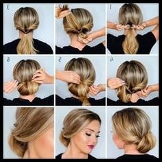 Lulus How-To: Low Rolled Updo Hair Tutorial Straight Hair Updo, Straight Hairstyles, Work Hairstyles, Braided Hairstyles Tutorials, Low Bun Tutorials, Black Hairstyles, Hairdos, Wedding Hairstyles, Flight Attendant Hair