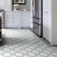 Most Unique Kitchen Tile Floor Ideas to Try in 2019 Vinyl Flooring Kitchen, Kitchen Vinyl, Modern Flooring, Luxury Vinyl Flooring, Best Flooring, Linoleum Flooring, Luxury Vinyl Tile, Flooring Options, Kitchen Tiles
