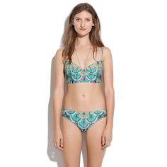 love this pattern -- Mara Hoffman® Feather Cami Underwire Top via Madewell #swimwear #summer