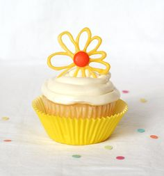 Easy way to dress up any cupcake- edible chocolate toppers. easy to make & can do any design