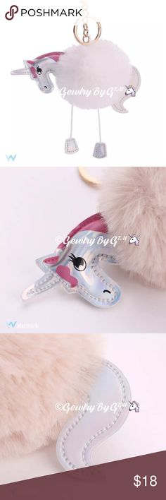 🦄Unicorn Pom Pom Purse Keychains. 🦄Unicorn Pom Pom Keychains🔶Amazing easy Large hook on clip! 🔶Great for that 👜favorite piece or just an add on to a key ring.                                                 🔶Fun for everyone, adorable                                                🔶Firm price, unless bundled.                                                      #Gewlry By G ™ PRICE IS FIRM on all jewelry items. SALE PRICE AT POSHMARK ONLY!!!😬www.gewlry.com All sales final.All Our…