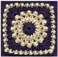 "Antique Pearls 6"" square free crochet pattern"