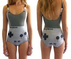 Maybe this is how we can get a guy to touch us when their mind is on video games---14 Geeky Yet Sexy Swimsuits