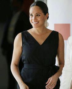 Duke And Duchess, Meghan Markle, Girl Boss, Tours, 2nd October, Black, Dresses, Women, Royals