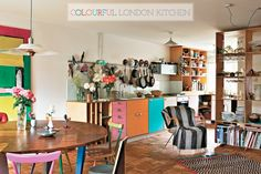 Colourful London Warehouse Kitchen ( Tom Mannion)