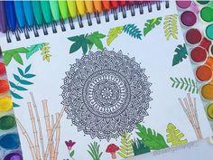 Doodle Art Drawing, Mandala Drawing, Art Drawings Sketches, Dibujos Zentangle Art, Mandala Coloring Pages, Doodle Patterns, Mandala Design, Sharpie, Cute Baby Animals