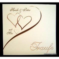 """Einladungskarte Hochzeit&Taufe """"Harmonie"""" braun Creme, Invitations, Get Tan"""