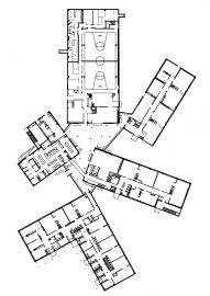 arkkitehtitoimisto sari nieminen: museum of finnish architecture, helsinki Education Architecture, Architecture Drawings, School Architecture, Architecture Plan, Stadium Architecture, Architecture Graphics, School Building Design, School Design, Primary School