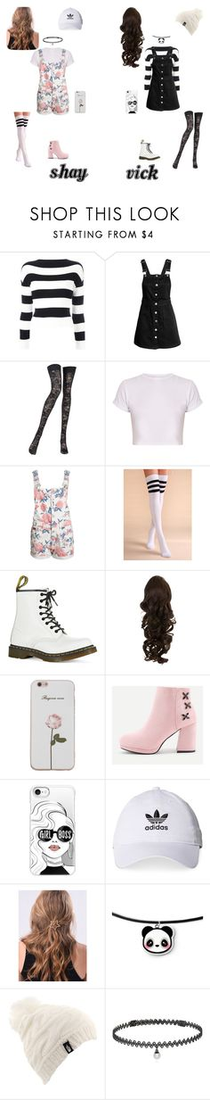 """Overalls"" by vick-valeriolete ❤ liked on Polyvore featuring Boutique Moschino, Pierre Mantoux, BasicGrey, Dr. Martens, Casetify, adidas, WithChic, The North Face and BERRICLE"