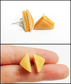 Grilled Cheese Post Earrings by *Bon-AppetEats on deviantART