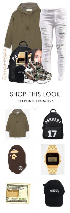"""""""$$$"""" by xbad-gyalx ❤ liked on Polyvore featuring Yves Saint Laurent, Givenchy, A BATHING APE and Casio"""