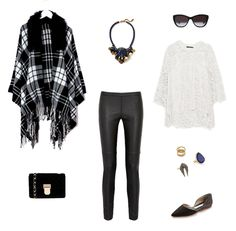 Black and White Blanket Cape | How She'd Wear It with Style and Cheek - Blanket Cape