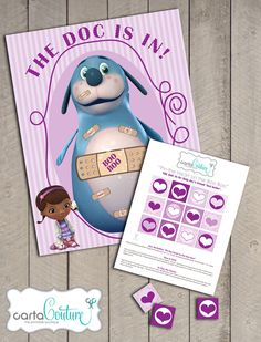 DIY Printable Doc McStuffins Pin the Heart on the Boo Boo Game Birthday Party Poster - by Carta Couture. $12.00, via Etsy.