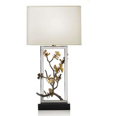 Michael Aram Butterfly Ginkgo Table Lamp (€835) ❤ liked on Polyvore featuring home, lighting, table lamps, gold, butterfly table lamp, michael aram, butterfly lights en butterfly lamp