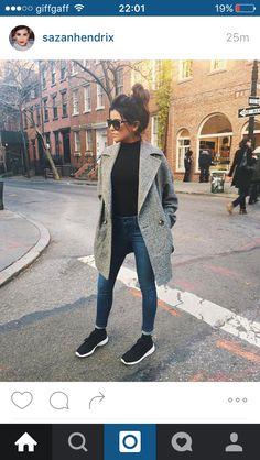 Grey coat with vans
