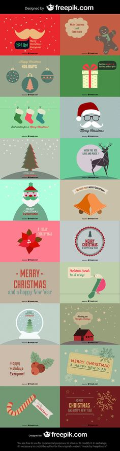 Free 20 Customizable Flat Style Christmas Cards from Freepik. Our friends from Freepik.com have released a fantastic Christmas Card Pack specially created to give Awwwards users a helping hand in spreading their Christmas cheer.