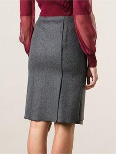 Nina Ricci layered wrap skirt