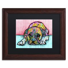 Trademark Art 'Lying Boxer' by Dean Russo Framed Graphic Art
