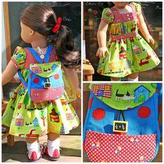 American Girl Doll Whimsical School Days by TallulahSophieToo, $38.00