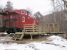 Desoto Cabin Rental: Original 1954 Railroad Caboose With Hot Tub!! | HomeAway