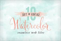Watercolor Seamless Web Tile Textures for your by summitavenue