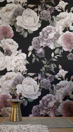 Create a beautiful, elegant space in your home with our beautiful Purple and Pink Dark Floral Wall Mural. If you have your heart set on a dark wallpaper for a room in your home, this charming floral mural will allow you to have a dark wall that is classical and neutral rather than overpowering. Match this wall mural with traditional furniture and deep colours to complete the look.#wallpaper #murals #wallmurals #interior #design #home #homedecor #decor #accentwall