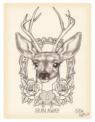 antler heart tattoos - Google Search