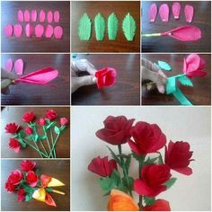 Pin by christina petersen on diy flower ideas pinterest how to make crepe paper roses step by step diy tutorial instructions thumb mightylinksfo