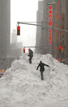 "New York City - you can always play "" King of the Hill """