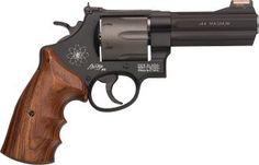 Smith & Wesson: Model 44 Magnum Revolver with HI-VIZ Sight for sale at Sportsman's Outdoor Superstore. Smith And Wesson Revolvers, Smith N Wesson, Rifles, Bushcraft, 44 Magnum, Revolver Pistol, Survival, Cool Guns, Guns And Ammo