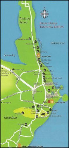 Maps of Tanjung Benoa Nusa Dua - Tanjung Benoa Map